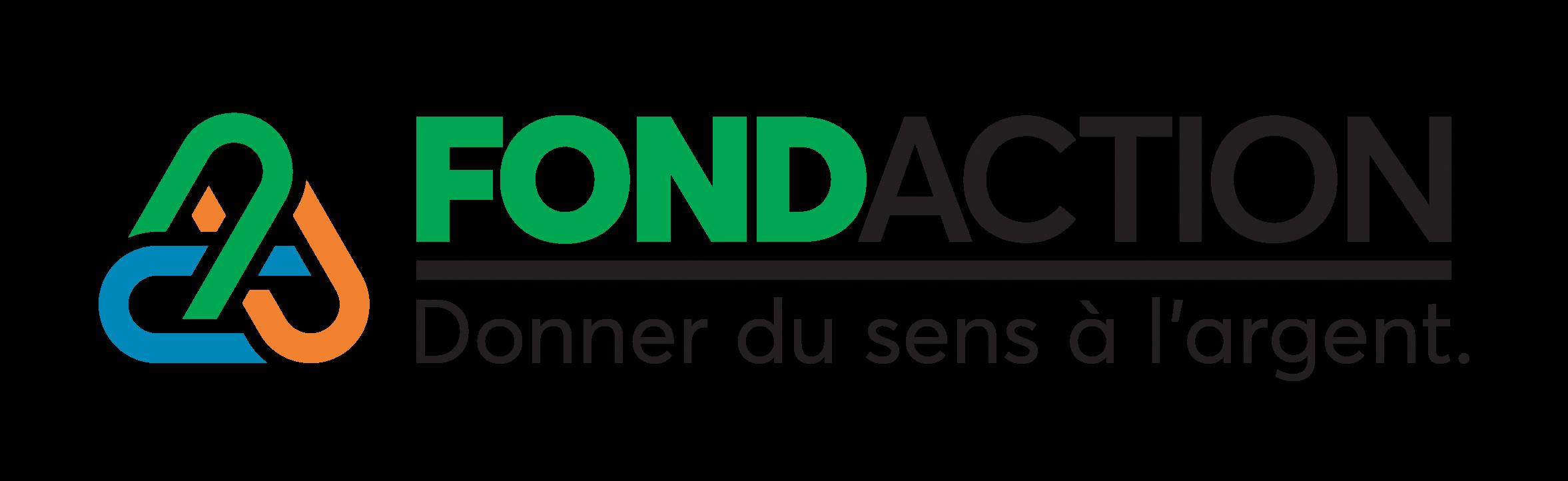 Logo Fondaction donner du sens à l'argent.
